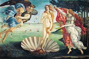 Botticelli's Birth of Venus, the finished image of this puzzle.