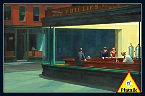 Hopper's Nighthawks, the finished image of this puzzle.
