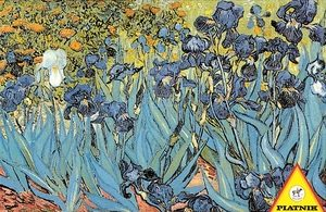 Van Gogh's Irises, the finished image of this puzzle.