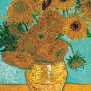Van Gogh's Sunflowers, the finished image of this puzzle.