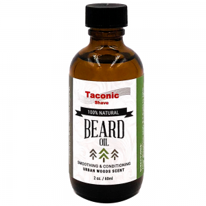 Taconic Shave Beard Oil 2oz on white background.