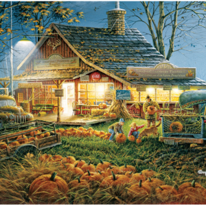 Autumn Traditions Puzzle 1000 Piece, picture of box with finished puzzle on front.
