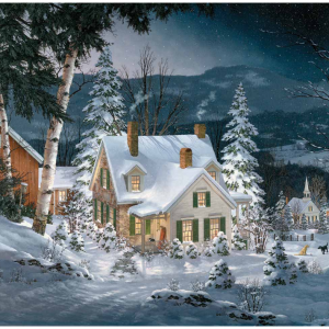 Friends in Winter Puzzle 1000 Piece, picture of box with finished puzzle on front.
