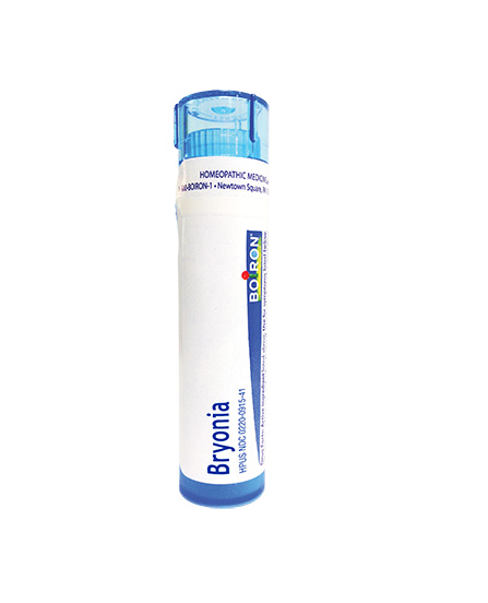 Boiron Bryonia Tube, white background.