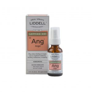 Liddell Oral Spray Anger spray bottle and the product box, white background.