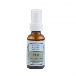 Liddell Oral Spray Poison Oak + Ivy spray bottle, white background.