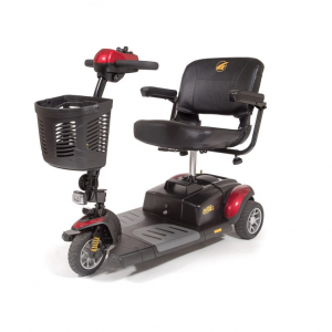 golden buzzaround xls mobility scooter 3 wheel version. Red shroud color.
