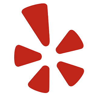 Yelp logo, used as a button to leave a Yelp review for Oswald's Pharamcy.