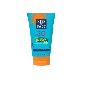 Kiss My Face Kids SPF 30 4oz. Blue tube with orange accents.