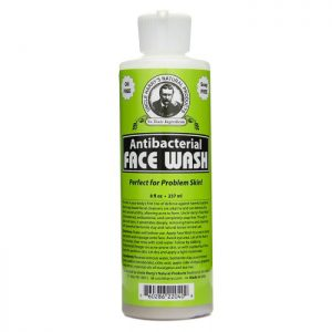 Uncle Harry's Face Wash product image 8oz size. A white bottle with a green, black and white label.