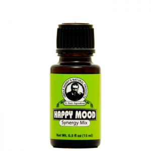 Uncle Harry's Happy Mood Mix. A brown .5oz bottle with a green, black and white label.