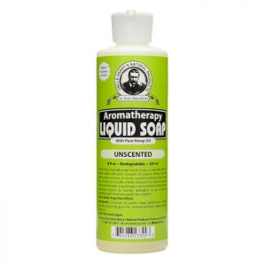 Uncle Harry's Unscented Liquid Soap product image. 8oz white bottle with a green, black and white label.