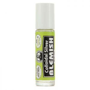 Uncle Harry's Oregano/Tea-Tree Colloidal Roll-On product image. A white tube with a green, black and white label in the middle. 10ml size.