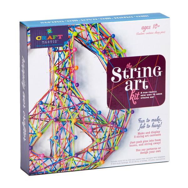 Ann Williams Craft-tastic String Art Kit featured image. The box featured a 3D peace sign string art project.