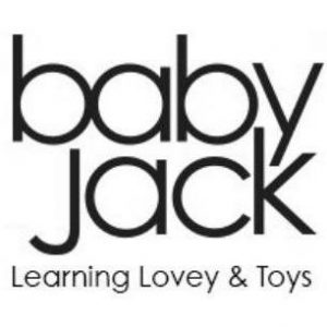 "Baby Jack Toys Logo. ""Learning Lovey & Toys"" is captioned underneath the logo."