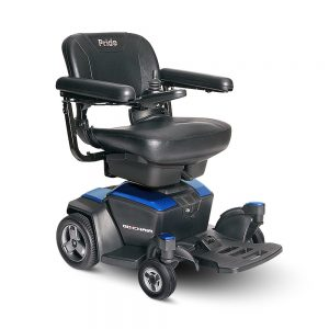 Power Chair Rental Category default image. A Pride Go Chair model in blue.