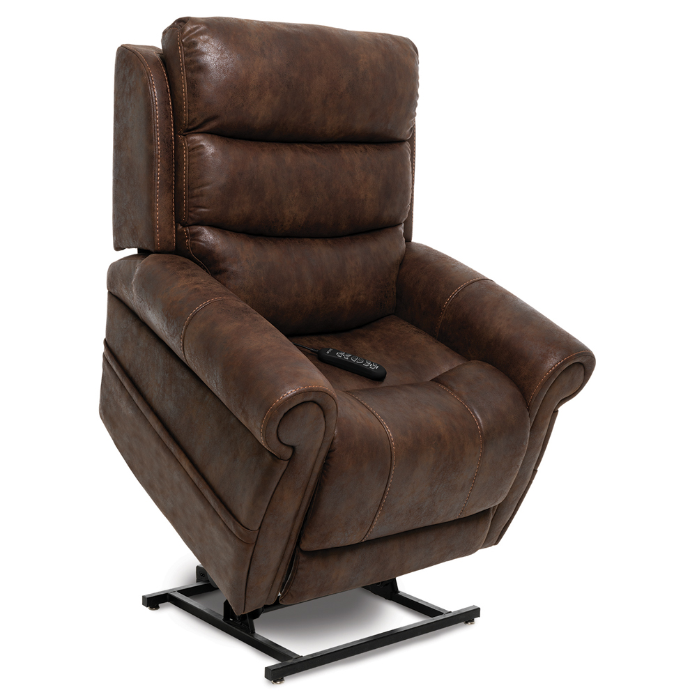 The Pride VivaLift! Tranquil in the lifted position. Fabric is Pride's Astro-Brown.
