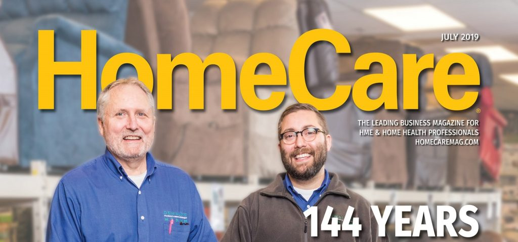 Oswald's on the Cover of HomeCare Magazine
