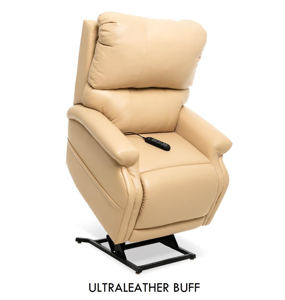 The Pride VivaLift! Escape in Ultraleather Buff fabric, a bright tan leather fabric.