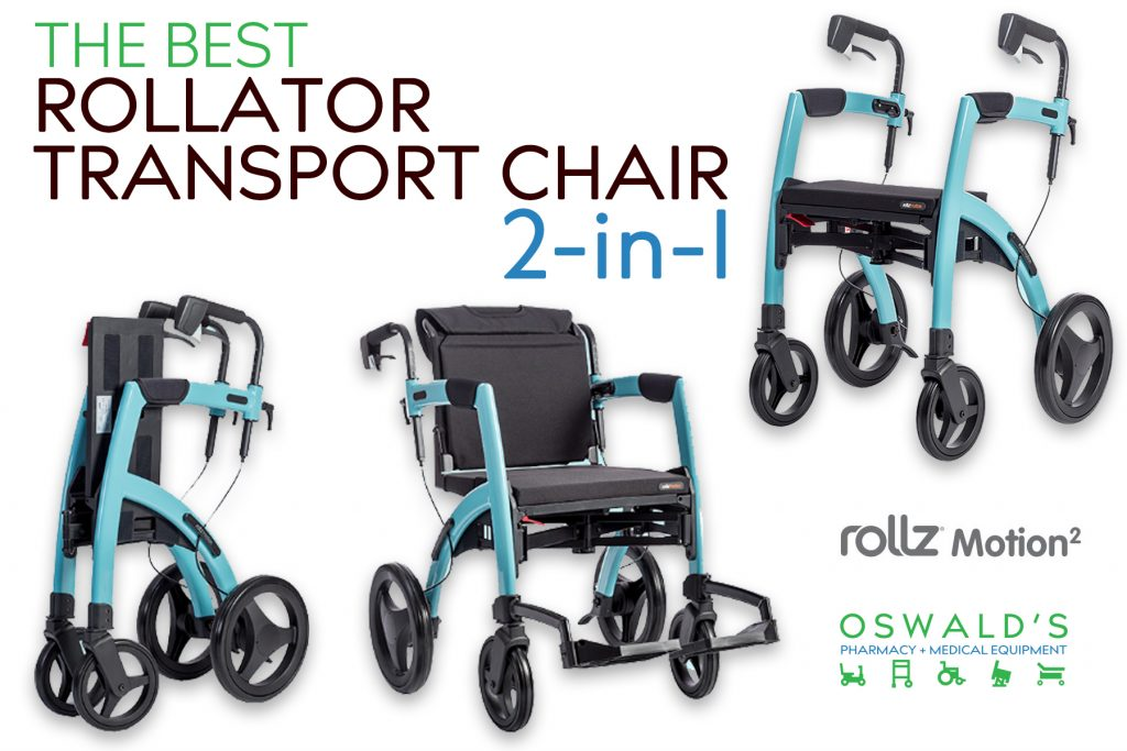 The Best Rollator/Transport Chair 2-in-1: The Rollz Motion 2
