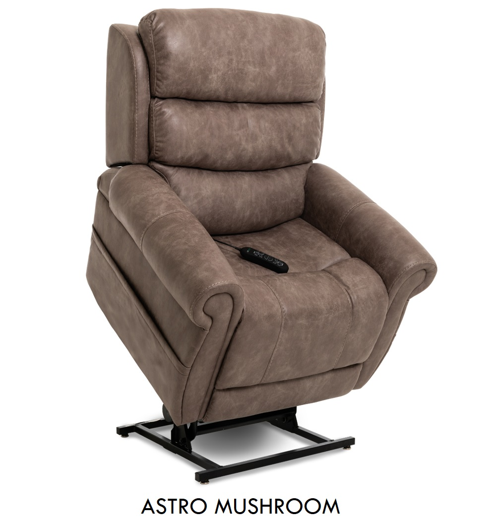 The Pride VivaLift! Tranquil in Badlands Mushroom fabric, a rustic brown fabric.
