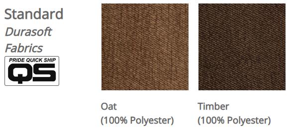 Pride VivaLift! Durasoft fabrics. Left: Oat. Right: Timber.
