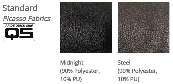 Pride VivaLift! Picasso fabrics. Left: Midnight. Right: Steel.