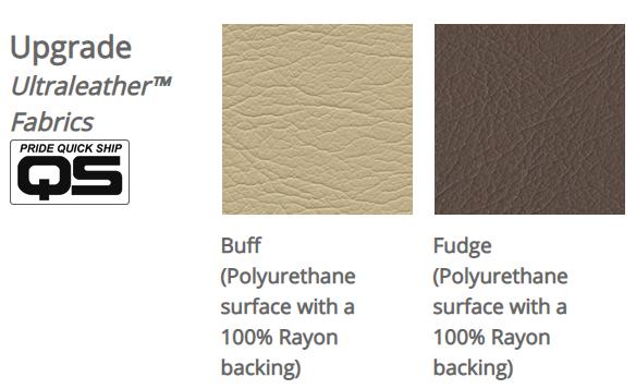 Pride VivaLift! Ultraleather fabrics. Left: Buff. Right: Fudge.