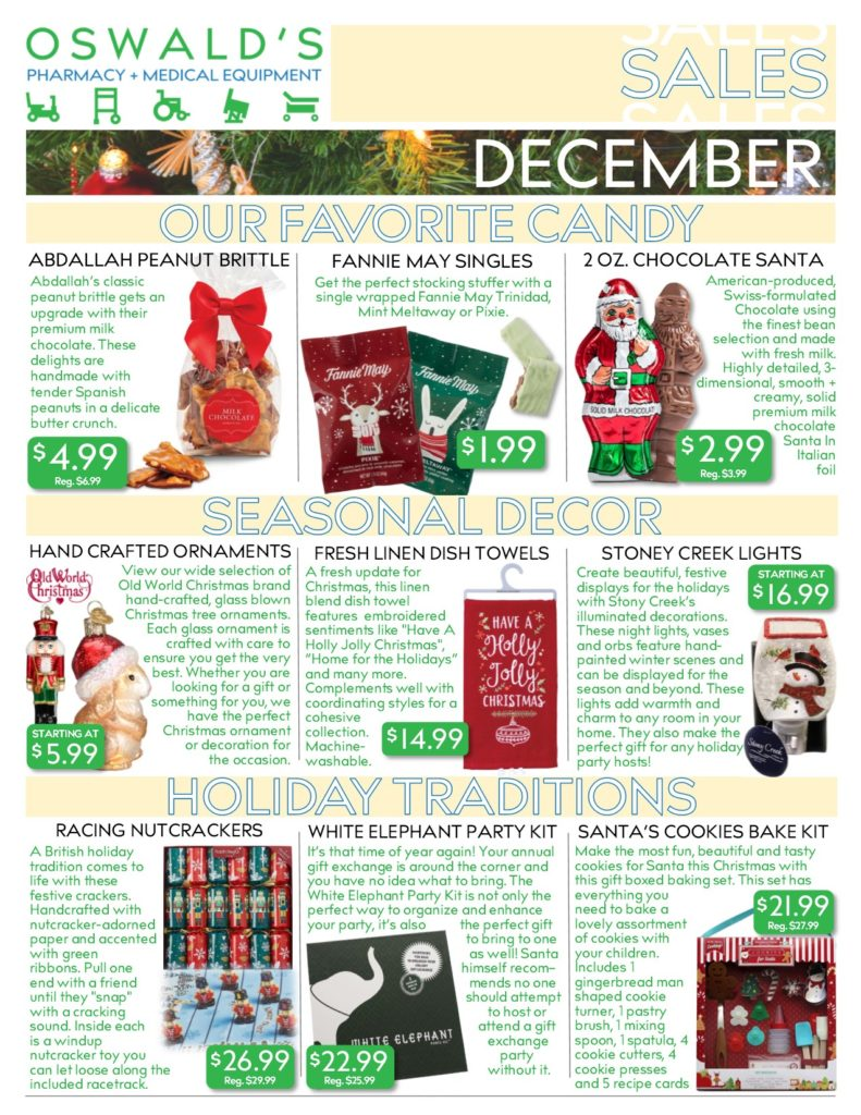 December 2019 Sales Flyer FRONT