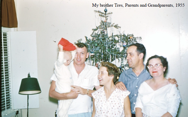 A picture of the Oswald-Kester-Anderson family taken in 1955. 3rd generation owner Harold Kester and his wife Helen stand next to 4th generation owner Bob Anderson and their daughter, Jean Anderson. 5th generation family member Tres Anderson is being held by his father, Bob.