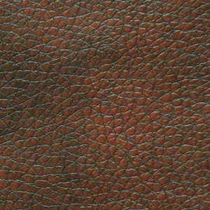 Golden Chestnut Fabric Swatch. A smooth, vinyl-like (Golden Valor) dark brown fabric.