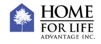 Home For Life Advantage Logo. A stylized white tree on a blue background next to the logo. ADA compliant home mods and remodeling.