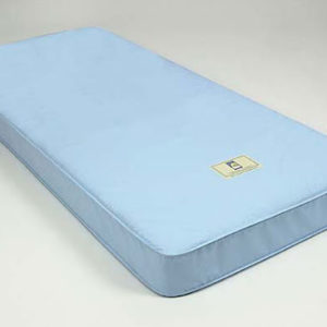 Made Rite Inner Spring Mattress Extra Firm. Mattress shown with a light blue cover.