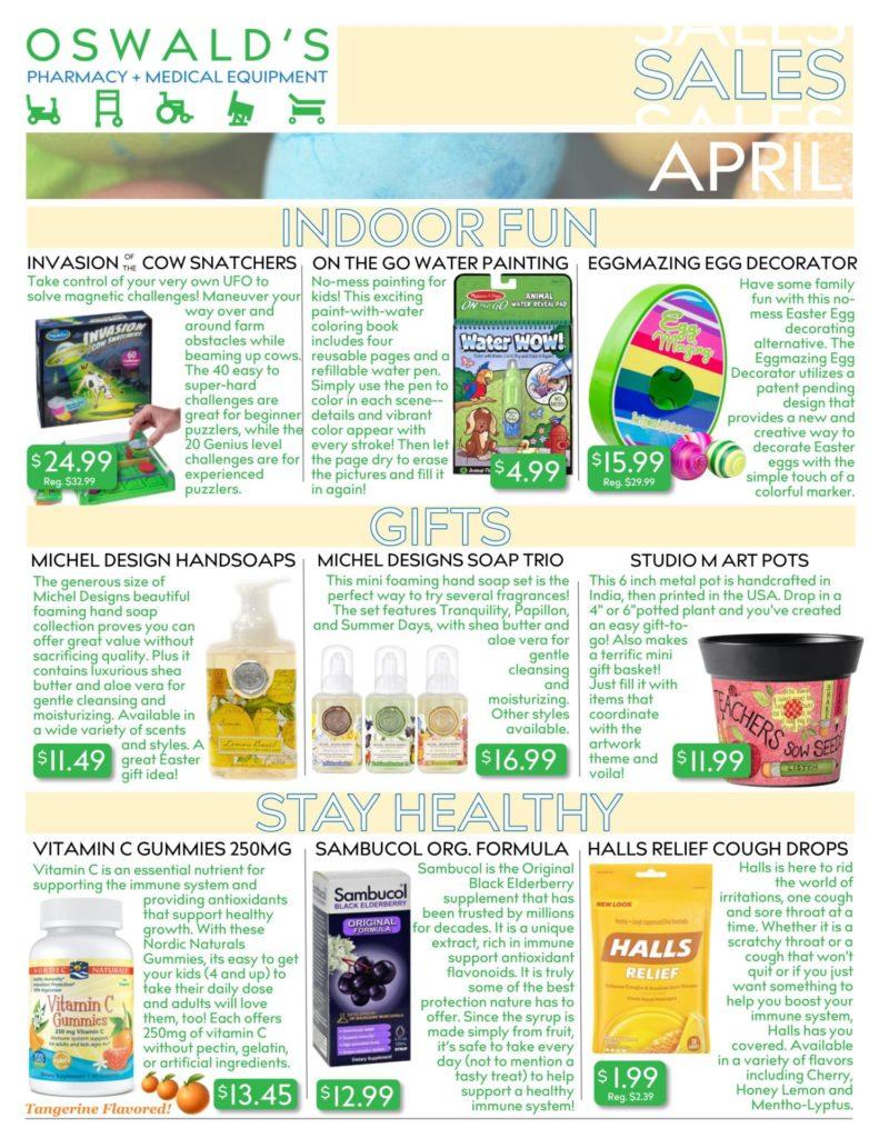 April 2020 Sales Flyer FRONT