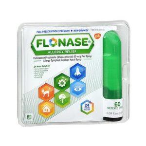 Flonase 60 Sprays. Packaging shown.