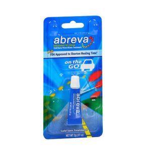 Abreva On-The-Go Cold Sore Treatment .07oz. Packaging shown.
