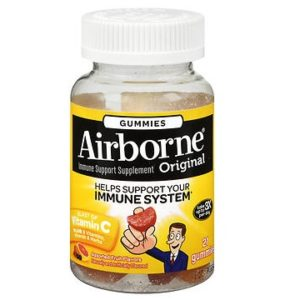 Airborne Gummies 21 pack. Bottle shown.