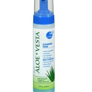 Aloe Vesta Cleansing Foam 8oz. Bottle shown.