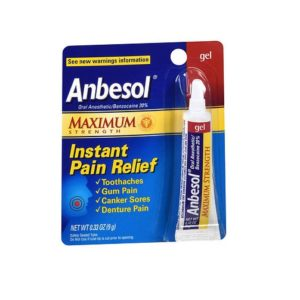 Anbesol Maximum Strength .33oz. Packaging shown.