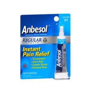 Anbesol Regular Strength .33oz. Packaging shown.