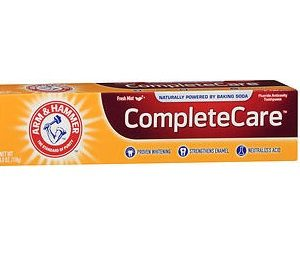 Arm & Hammer Complete Care Toothpaste Extra Whitening 6oz. Box shown.