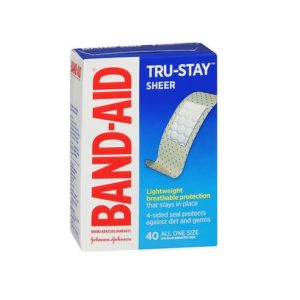 Band Aid Sheer 40 pack. Box shown.