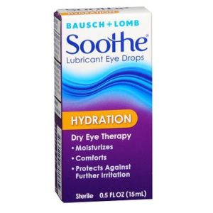 Bausch&Lomb Soothe Hydration Eye Drops 0.5oz. Box shown.