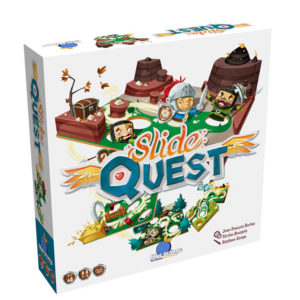 Blue Orange Slide Quest Board Game. Box shown.