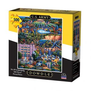 Dowdle U.S. Army Puzzle 500pc. Box shown.