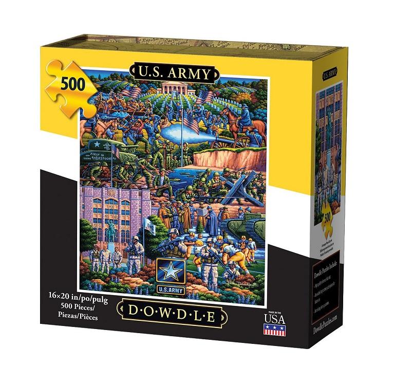 Dowdle U.S. Army Puzzle 500pc. Box shown.