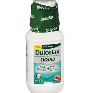 Dulcolax Liquid 12oz Cherry. Bottle shown.