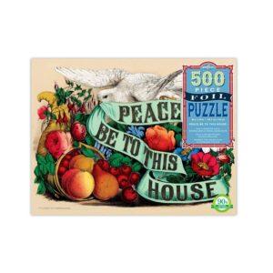 eeBoo Planting A Garden 500 Piece Foil Puzzle. Box shown.