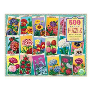 eeBoo Planting A Garden 500 Piece Puzzle. Box shown.