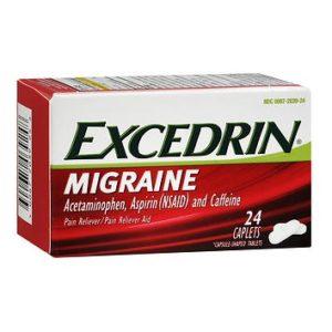 Excedrin Migraine 24 caplets. Box shown.